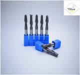 강철 CNC 기계로 가공 부속 &#160를 위한 긴 R1.0*4*4D*75L*2f/4f를 입히는 Cutoutil HRC55 Tialn; 공 코 끝 선반