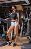 Подгонянная пригодность печатание цветения сливы тренируя Sportswear плотно кожи Glide регулируемый