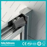 Pantalla de ducha de aluminio de pivote con vidrio laminado templado (SE923C)