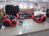 Sofà moderno con l'angolo per bianco stabilito/arancio del sofà del Recliner del cuoio del sofà del salone