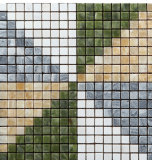 Mosaico del mármol de la piedra del azulejo de suelo del diseño de Wonderfui (FYSC024)