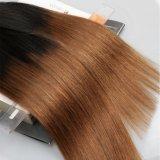 Glücks-Haar brasilianisches Remy Haar gerades Ombre Farben-Menschenhaar