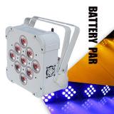 Disco LED iluminación de escenario / batería Powered-Wirelessrgbwa UV LED PAR luz