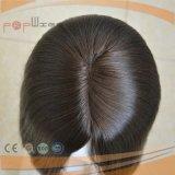 Peluca atada mano completa del pelo humano del trabajo de la tapa de la piel del frente de la base del cordón de la longitud del cortocircuito del 100%