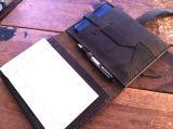 Dépliant de fichier neuf de cuir de couverture de document du modèle A5