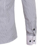 Overhemd van de Streep niet van het Ijzer van mensen het Regelmatige Geschikte Stevige (A419)