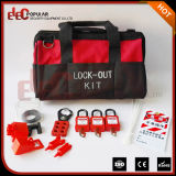 Tipo portable negro rojo kit del bolso del alto rendimiento de Elecpopular China de Tagout del cierre de la válvula