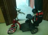 Самокат 3 колес электрический с держателем мешка гольфа (et-es002-g)