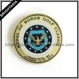 記念品のギフト(BYH-101128)のためのゴルフ品質の記念する硬貨