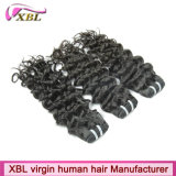 100%のペルーの人間の毛髪の織り方18インチの毛の拡張