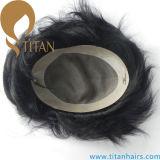 """Toupee dei capelli umani del Virgin 6 """" X9 """" mono per gli uomini"""