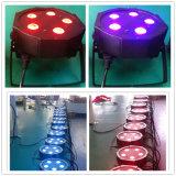 PARIDADE lisa do diodo emissor de luz de 5X10W RGBW 4in1 para a iluminação do DJ