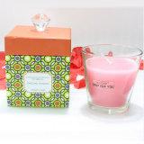 Weißes Glasglas gerochen Sojabohnenöl-Wachs-Kerzen