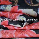 Tela Chiffon impressa do poliéster feito sob encomenda da fita para o vestido das mulheres