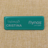 Offset fait sur commande Digital Printing Metal Name Badge avec Different Name