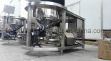 O PLC controla o misturador da tabela do pó do aço inoxidável com rodas