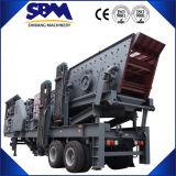 Spur-mobile Zerkleinerungsmaschine-Maschine, hohe Kapazitäts-Mobile-Zerkleinerungsmaschine