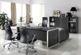 Vector moderno de la oficina del escritorio de oficina del MDF del cuero (V1)