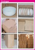 La caja fuerte blanca llana de la microonda de la loza consolida el tazón de fuente redondo defectuoso