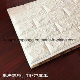 Colore o papel de parede dos painéis 3D da espuma de 70*77cm