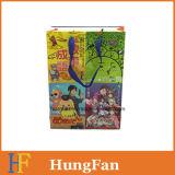 Bolsa de papel encantadora del regalo del estilo de la historieta con la maneta de seda de la cinta