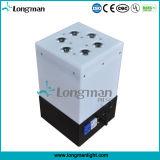 9PCS 14W Rgbawuvの電池が付いている小さい無線電信LEDライト