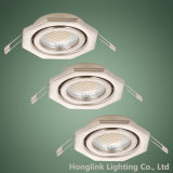 Justierbares GU10 MR16 Recessed Ceiling Downlight Fixture mit Octagon Shape