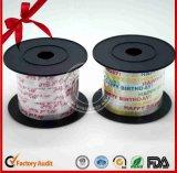 Weihnachtsdekorative lockige Farbbänder mit Drucken für dekorative Verpackung