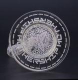 Beste verkaufende klassischer Entwurfs-Glaspfeife, transparente 9 Zoll hohe Glasrohr-durch glänzendes Glas