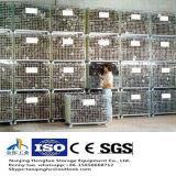 倉庫の記憶のためのスタック可能および折りたたみ鋼線の網のケージ