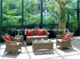 4PC ha impostato l'insieme esterno del sofà del rattan del giardino