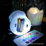 18 claves teledirigidos con la vela plástica de la batería de la llama del LED RGB