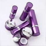 Botella privada de aire de la loción del tarro poner crema de acrílico púrpura de Set1 PP para el empaquetado del cosmético (PPC-CPS-036)