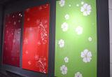 Zhuv 캐비넷 문을%s 광택 있는 UV 꽃 MDF 널 (꽃 디자인에)
