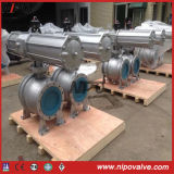 Molde Steel Flanged Trunnion Ball Valve com Pneumatic Actuator