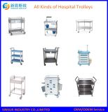病院装置のFan-Shapedステンレス鋼の多機能の処置のトロリー