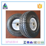 "WheelbarrowまたはHand TrolleyのためのチンタオCheap Pneumatic Tyre 10 "" X3.50-4"
