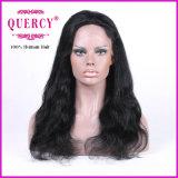 Peluca natural del cordón del frente del pelo de la Virgen del ser humano del color el 100% de la onda natural larga