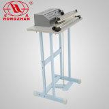 Máquina lateral dobro do pedal da selagem de impulso com fio elétrico e câmara de ar do calor elétrico para a folha do chá do tecido e o producto diário