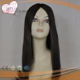 Parrucca lunga superiore legata mano dei capelli umani del merletto del lavoro di Shevy della pelle piena della base