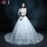 Линия платье венчания фотоего втулки краткости реальное (ZXB-12)