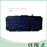 ABS材料の明るさの調節のLEDによって照らされる賭博キーボード(KB-1901EL-LB)