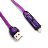 2 in 1 FOR Apple Lightning/Micro USB Data Transmission Charging Cable voor iPhone 5/V8
