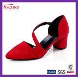 カラーMicrosuedeのピンク女性の方法靴
