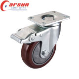 125mm prestaciones medias giratoria Castor con la PU de la rueda
