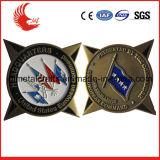 Значки металла армии золота плакировкой высокого качества равномерные