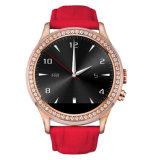 El último reloj de la mano de 2016 de Heartrate nuevas del diseño muchachas elegantes de la manera, teléfonos móviles del reloj de las mujeres hermosas