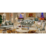 Insiemi di cuoio classici del sofà per la mobilia del salone (510C)
