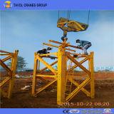 Première grue à tour du nécessaire Qtz63 (5010) pour le projet de construction