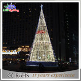 Luz artificial grande ao ar livre da árvore de Natal do diodo emissor de luz do gigante do PVC